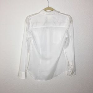 J. Crew Tops - J. Crew The Perfect Tee White Button Up Top. Small